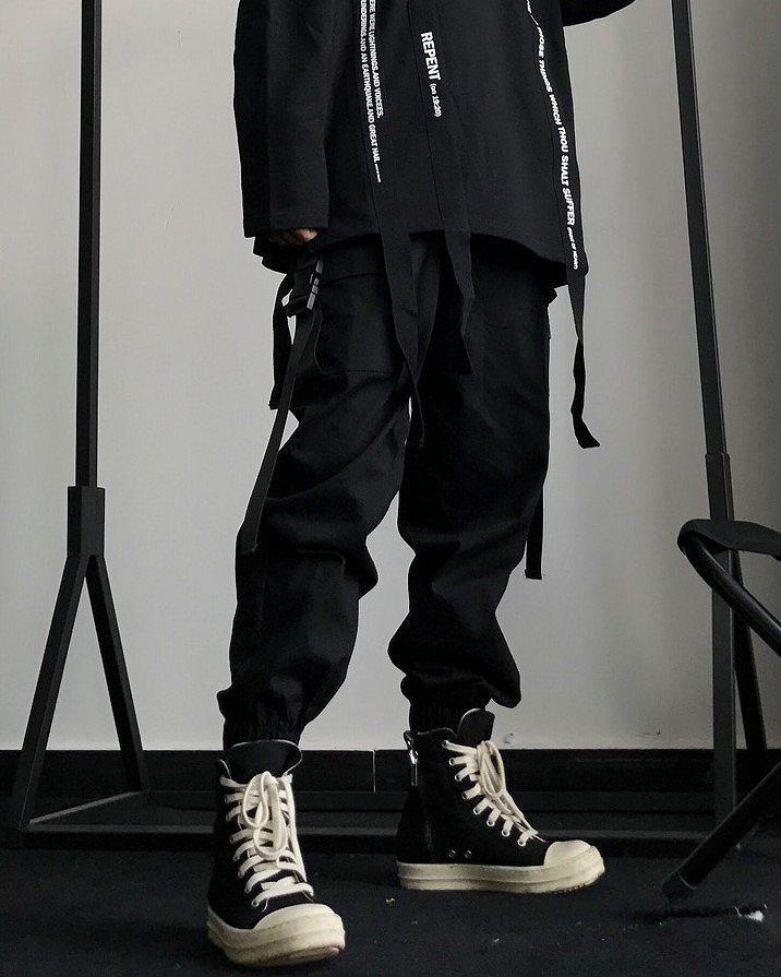 サイドベルトブラックカーゴジョガーパンツ(小さいサイズ)の画像7
